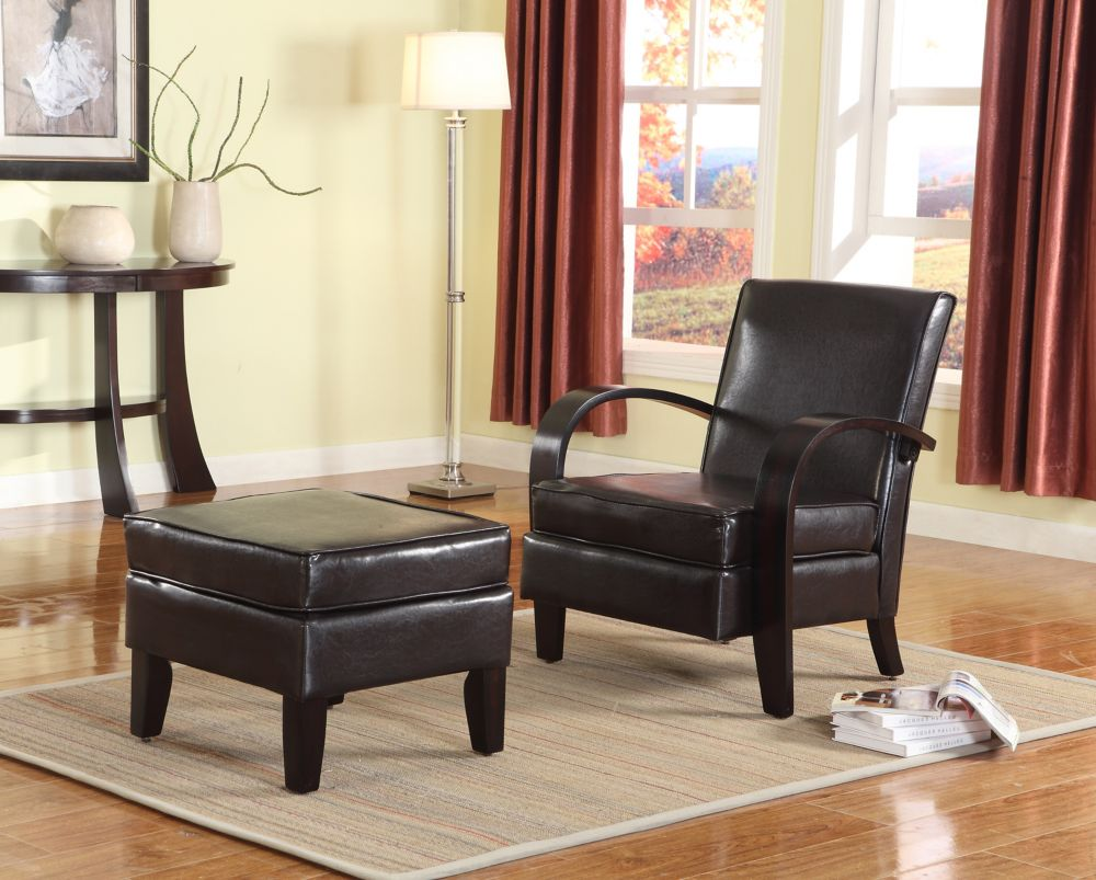 Brassex Inc. Verona Accent Chair, Espresso