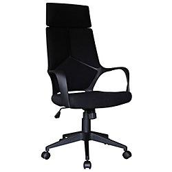 Brassex Inc. Adj. Office Chair with Gas Lift, Black