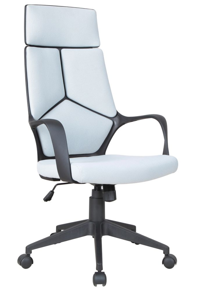 Brassex Inc. Adj. Office Chair with Gas Lift, Grey