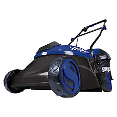 14-inch 28V 5 Ah Cordless Brushless Lawn Mower in Blue