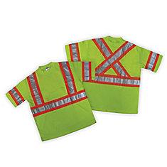 T-shirt haute visibilité vert CSA - taille G