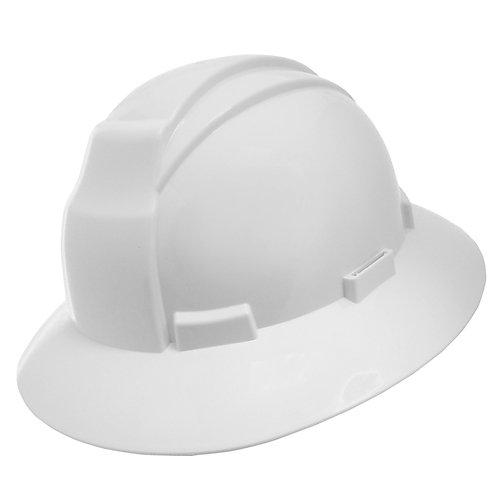 White Wide Brim Hard Hat