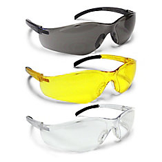 All Conditions Safety Glasses - 3 Pack (Clear, Amber, Smoked)