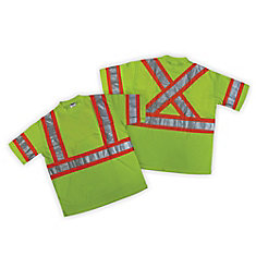 T-shirt haute visibilité vert CSA - taille TG