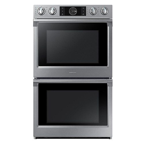 Samsung 30-inch 5.1 cu.ft Double Wall Oven Electric Range with Dual Convection in Stainless Steel