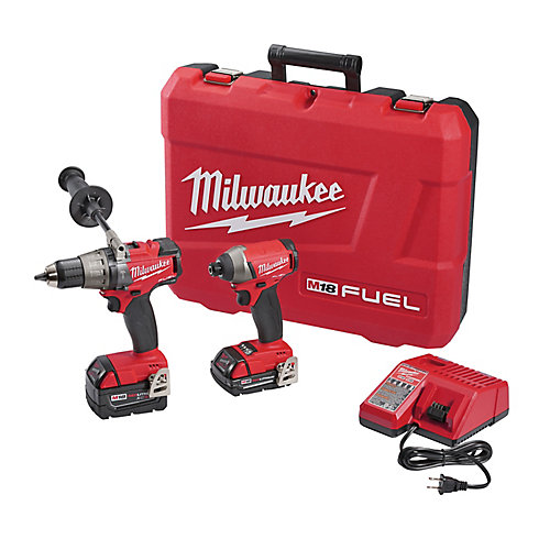 M18 FUEL 18V Lithium-Ion Brushless Cordless Hammer Drill/Impact Driver Combo Kit (2-Tool)