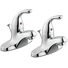 1500 Series 2-Pack Single Handle Bath Faucets in Chrome Finish