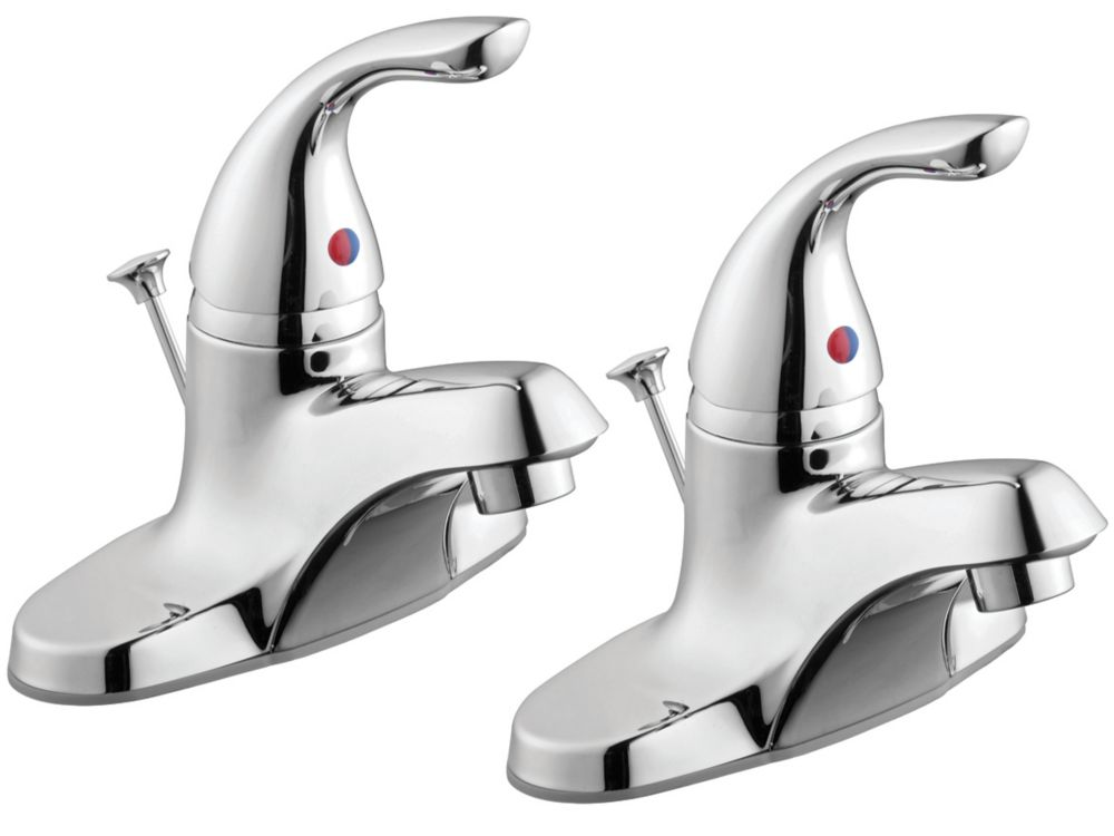GLACIER BAY 1500 Series 2-Pack Single Handle Bath Faucets in Chrome Finish