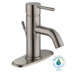 GLACIER BAY Modern Single Handle Bath Faucet in Nickel Finish