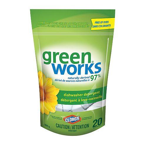 GreenWorks Dishwasher Detergent, 20 Pacs, 360 g