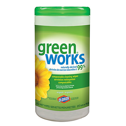 Cleaning Wipes, Original, 62 count