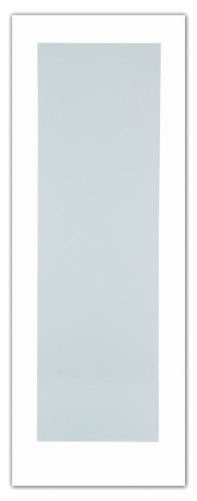Milette 28-inch x 80-inch Primed 1-Lite French Door with White Laminated Tempered Glass