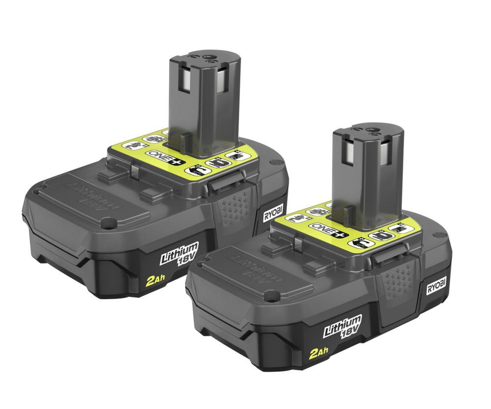 RYOBI 18V ONE+ Lithium+ Battery (2-Pack)