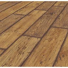Rustic Brown Oak 12mm Thick x 8.03-inch W x 47.64-inch L Laminate Flooring (15.94 sq. ft./case)