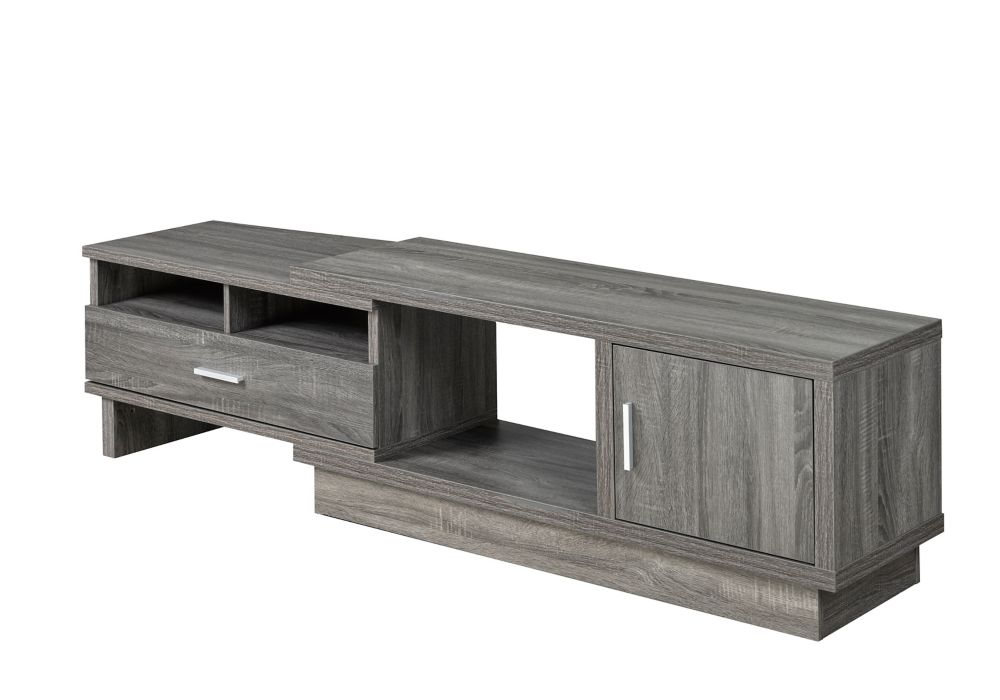 Brassex Inc. Expandable TV Stand with Storage, Grey
