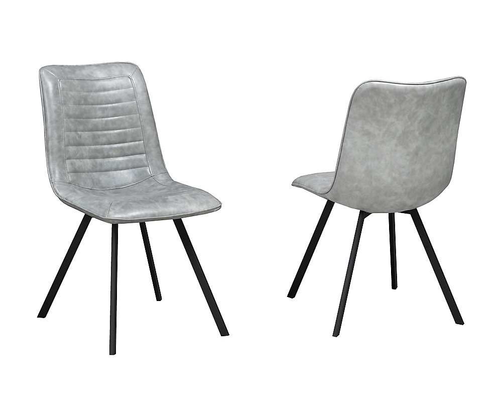 Milano Dining Chair, (Set of 2), Grey