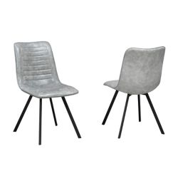 Brassex Inc. Milano Dining Chair, (Set of 2), Grey