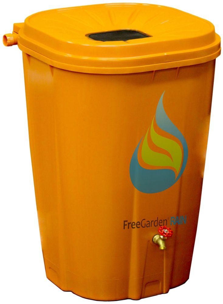 Enviro World 55 Gal. Terra Cotta Rain Barrel with Brass Spigot and Rain Barrel Kit