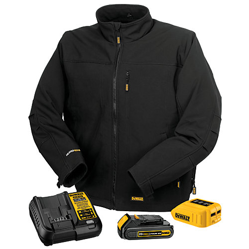 12V/20V Max Black Heated Work Jacket W/ Battery Kit - L