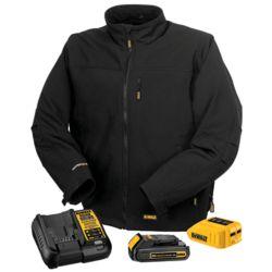 DEWALT Veste de travail chauffante noire maxi 12V/20V avec kit batterie - M