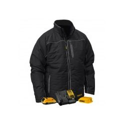 DEWALT 12V/20V MAX Hommes noirs matelassés/enveloppe chauffante avec Batt Kit-L