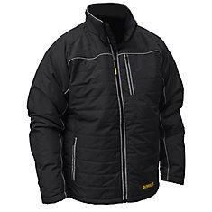 12V/20V MAX Black Mens Quilted/Heated Jacket w/ Batt Kit-3XL