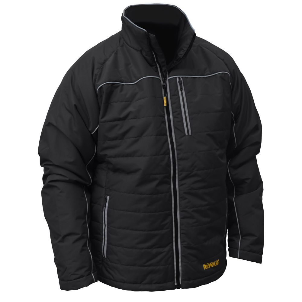 DEWALT DEWALT 12V/20V MAX Black Mens Quilted/Heated Jacket w/ Batt Kit-M