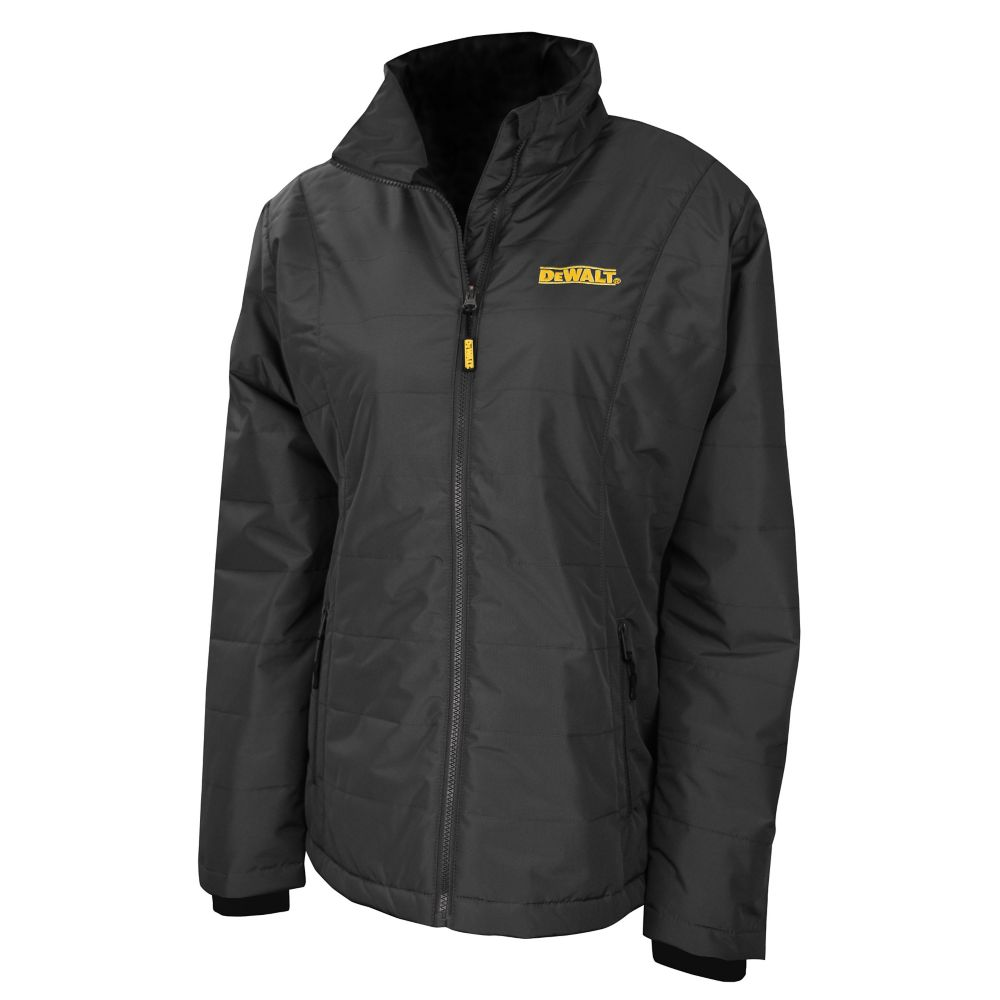 DEWALT 12V/20V Max Ladies Quilted/Heated Grey/BLK Jacket w/ Batt Kit-S
