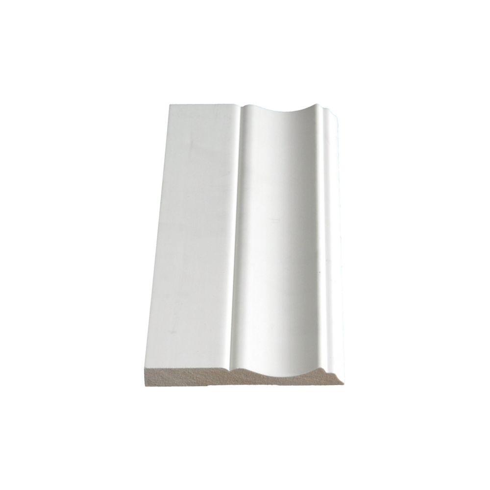 Alexandria Moulding Primed Fibreboard Base 3/8 inch x 3-1/4 inch x 8 ft.
