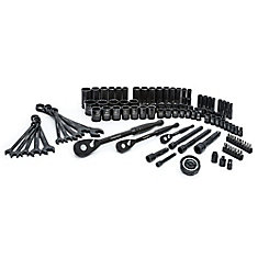 1/4 inch 3/8 inch and 1/2 inch Drive 100-Position Universal SAE and Metric Mechanics Tool Set (105-Piece)