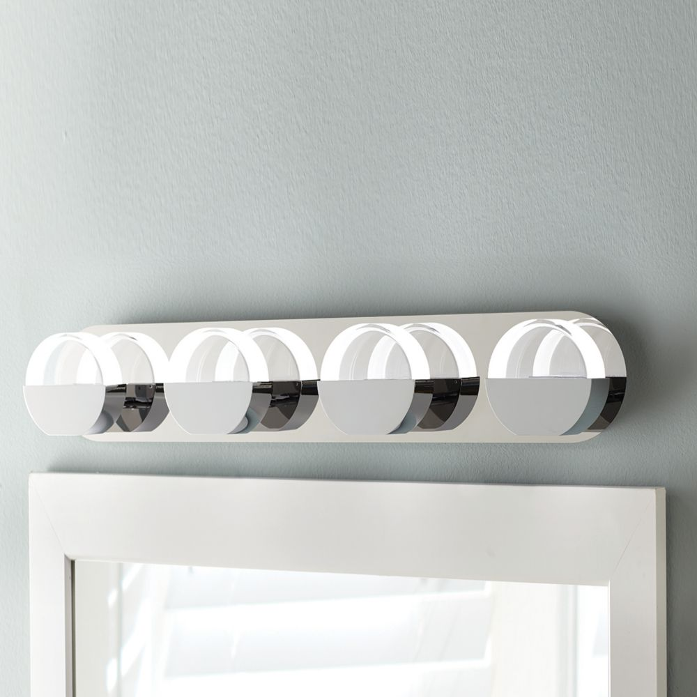 Home Decorators Collection 4-Light Chrome Integrated LED ...