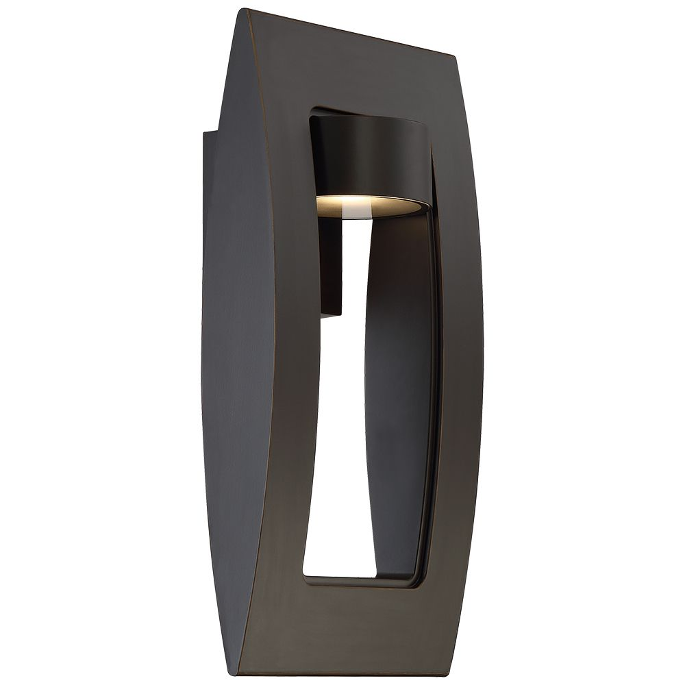 Home Decorators Collection 60W 1-Light Oil Rubbed Bronze Integrated LED Outdoor Wall Lantern