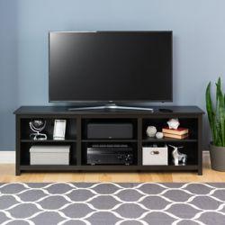 Prepac Sonoma 72 pouces meuble TV, noir