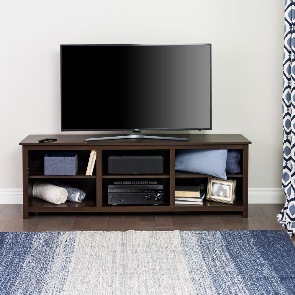 Prepac Sonoma 72-inch TV Stand in Espresso