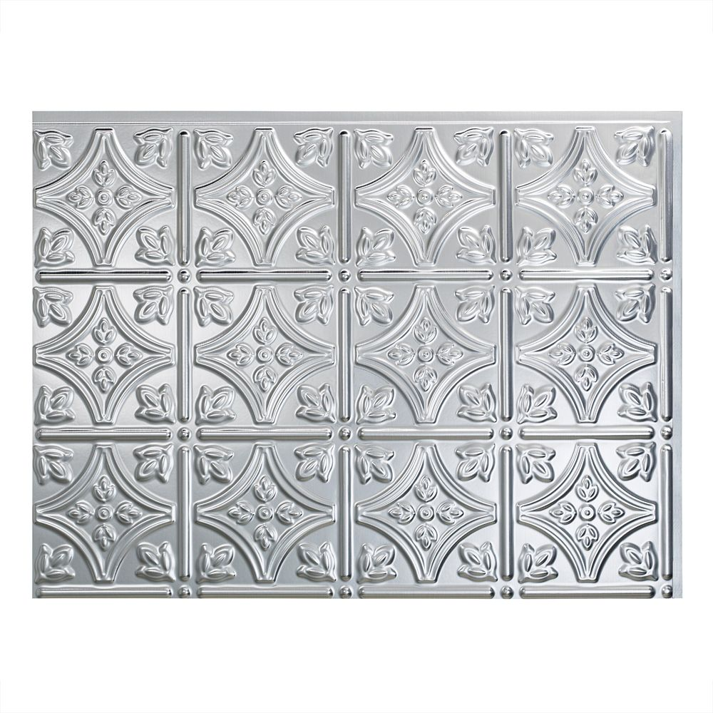 Fasade Traditional Style 10 Brushed Aluminum 18 In X 24: Fasade Traditional 1 Brushed Aluminum 18 Inch X 24 Inch