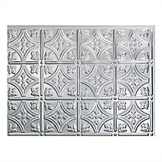 Traditional 1 Brushed Aluminum 18 inch x 24 inch PVC Backsplash Panel