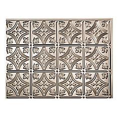 Traditional 1 Brushed Nickel 18 inch x 24 inch PVC Backsplash Panel