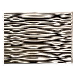 Fasade Waves Brushed Nickel 18 inch x 24 inch PVC Backsplash Panel