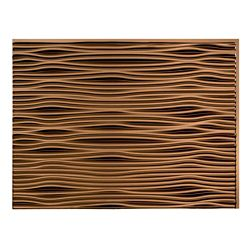 Fasade Waves Oil-Rubbed Bronze  18 inch x 24 inch PVC Backsplash Panel