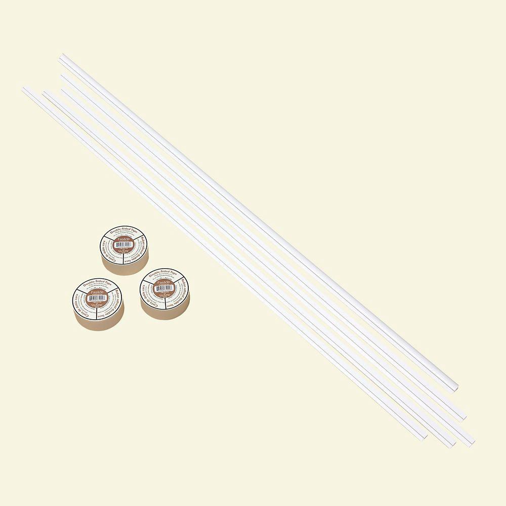 Fasade Matte White Backsplash Accessory Kit with Tape