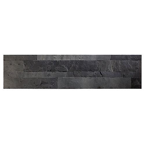 "Charcoal Slate - 1-Piece- 5.9"""" x 23.6"""" Peel and Stick Stone Backsplash Tile"