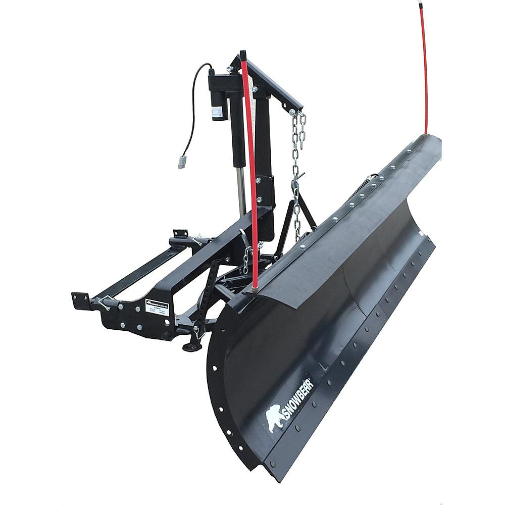 Winter Wolf 82 inch x 19 inch Snow Plow with Custom Mount and Actuator Lift  System