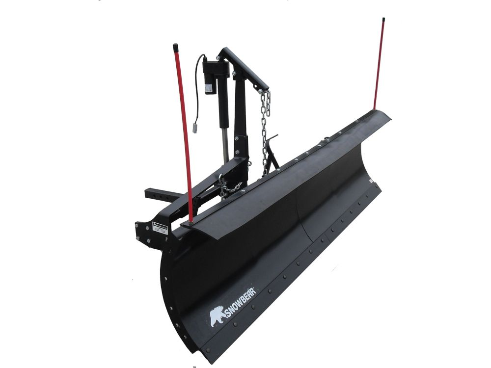 Electric Snow Shovel >> SNOWBEAR Heavy-Duty 82 in. x 19 in. Snow Plow for Jeeps, Smaller Trucks and SUVs | The Home ...