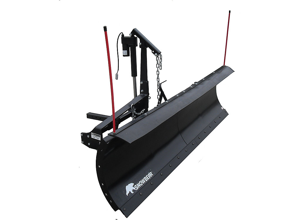 Pro Shovel 88 inch  x 26 inch  Snow Plow for 2 inch  Front Mounted Receiver  with Actuator Lift System