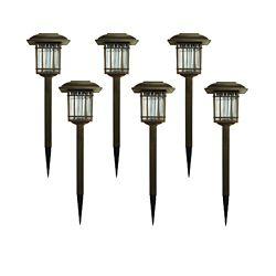 Hampton Bay Bronze Square Solar LED Path Light (6-Pack)