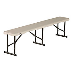 Light Commercial Almond 6-Foot Fold-In-Half Bench