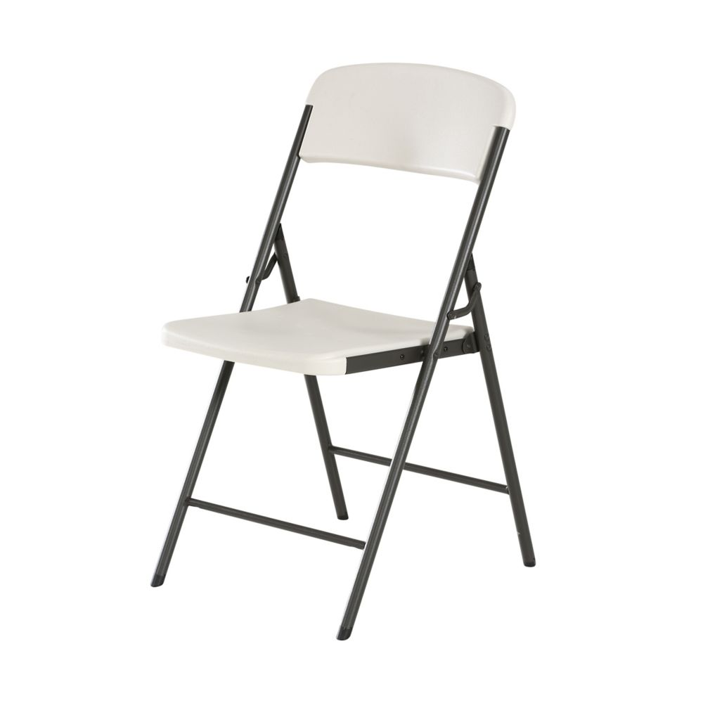 Lifetime Essential Almond Folding Chair The Home Depot