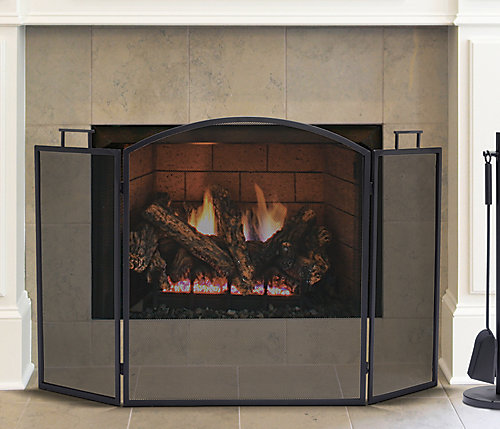 door dp alpine hearth fireplace pleasant glass an black small