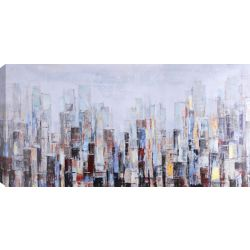 Art Maison Canada 28x55 SKYSCRAPERS, Acrylic Painting on Canvas, Ready to Hang