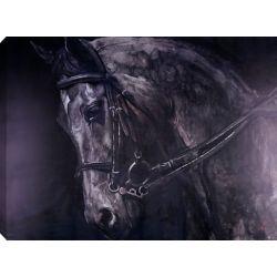 Art Maison Canada 36 x 48 cheval, peinture acrylique sur toile, prêt à accrocher
